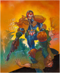 Original Comic Art:Covers, Simon Bisley The Chronicles of Judge Dredd #23 CoverPainting Original Art (Titan Books, 1989)....
