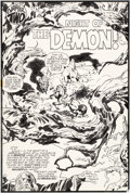 Original Comic Art:Splash Pages, Jack Kirby and Mike Royer Demon #5 Splash Page 5 OriginalArt (DC, 1973)....