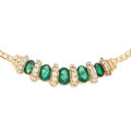 Estate Jewelry:Necklaces, Diamond, Emerald, Gold Necklace. ...
