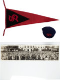 Miscellaneous Collectibles:General, 1920's Baseball Cap, Pennant & Panoramic Photographs (2)....