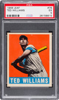 Baseball Cards:Singles (1940-1949), 1948 Leaf Ted Williams #76 PSA EX 5....
