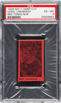 Non-Sport Cards:Singles (Pre-1950), 1926 W511 Charles Lindbergh (No Number, Red) PSA EX-MT 6. ...