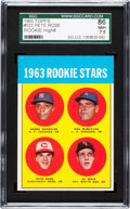 Baseball Cards:Singles (1960-1969), 1963 Topps Pete Rose - 1963 Rookie Stars #537 SGC 86 NM+ 7.5....