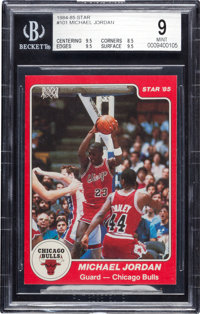 1984-85 Star Co. Michael Jordan #101 BGS Mint 9