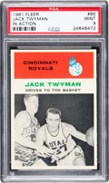 Basketball Cards:Singles (Pre-1970), 1961 Fleer Jack Twyman (In Action) #65 PSA Mint 9....
