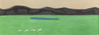 Milton Avery (American, 1885-1965) Green Meadow, 1957 oil on canvas 16 x 44 inches (40.6 x 111.8
