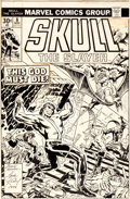 Original Comic Art:Covers, Jack Kirby and Frank Giacoia Skull the Slayer #8 Cover Original Art (Marvel, 1976)....