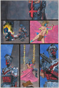 Original Comic Art:Panel Pages, Kevin O'Neill Marshal Law #2 Story Page 26 Original Art(Marvel/Epic, 1988)....