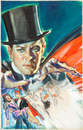 Original Comic Art:Miscellaneous, Glenn Cravath Mandrake the Magician Movie One-SheetPreliminary Painting Original Art (Columbia Pictures, 1939...