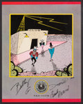Music Memorabilia:Autographs and Signed Items, ZZ Top Signed International Fan Club Poster (1983). ...