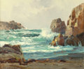 Fine Art - Painting, American:Modern  (1900 1949)  , Jack Wilkinson Smith (American, 1873-1949). CaliforniaCoast. Oil on canvas. 20 x 24 inches (50.8 x 61 cm). Signedlower...