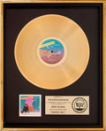 Music Memorabilia:Awards, Jefferson Starship Modern Times RIAA Gold Record Sales Award(Grunt BZL1-3848, 1981)....
