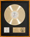 Music Memorabilia:Awards, Elton John Too Low For Zero RIAA Gold Record Sales Award(Geffen GHS 4006, 1983)....