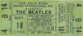 Music Memorabilia:Memorabilia, Beatles Unused Dallas Memorial Auditorium Concert Ticket (1964)....
