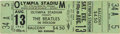 Music Memorabilia:Memorabilia, Beatles Unused Olympia Stadium Concert Ticket (1966)....