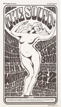 """Music Memorabilia:Posters, Jefferson Airplane """"The Sound"""" Winterland Concert Poster BG-29Signed by Artist Wes Wilson (Bill Graham, 1966)...."""