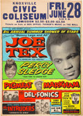Music Memorabilia:Posters, Joe Tex/Percy Sledge Knoxville Civic Coliseum Concert Poster(1968)....