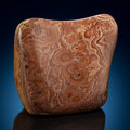 Lapidary Art:Carvings, Wave Dolomite. Mexico. 5.24 x 4.72 x 2.26 inches (13.30 x 12.00x 5.75 cm). ...