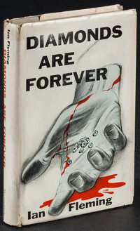 "Diamonds are Forever by Ian Fleming (The Macmillan Company, 1956). 1st Edition U.S. Hardcover Book (216 Pages, 5.5""..."