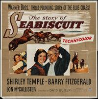 """The Story of Seabiscuit (Warner Brothers, 1949). Six Sheet (79"""" X 80""""). Drama"""