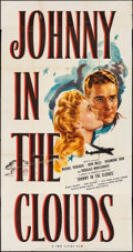 """Movie Posters:War, Johnny in the Clouds (United Artists, 1946). Three Sheet (41"""" X78""""). War.. ..."""