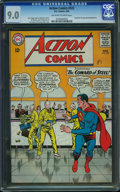 Silver Age (1956-1969):Superhero, Action Comics #322 (DC, 1965) CGC VF/NM 9.0 Off-white to whitepages.