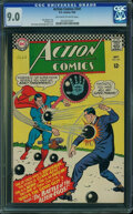 Silver Age (1956-1969):Superhero, Action Comics #341 (DC, 1966) CGC VF/NM 9.0 Off-white to whitepages.