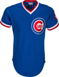Baseball Collectibles:Uniforms, 1983 Ryne Sandberg Signed Game Worn Chicago Cubs Jersey....