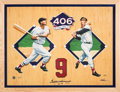 Baseball Collectibles:Others, 1990's Ted Williams Signed Oversized Triple Crown Giclee....
