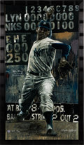 Baseball Collectibles:Others, Circa 2000 Don Larsen Signed Limited Edition Giclee by StephenHolland. ...