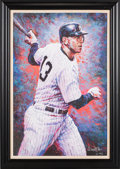 Baseball Collectibles:Others, 2007 Alex Rodriguez Signed Oversized Giclee....