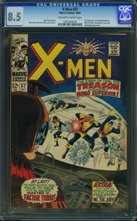 X-Men #37 (Marvel, 1967) CGC VF+ 8.5 Off-white to white pages