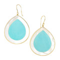 Estate Jewelry:Earrings, Turquoise, Mother-of-Pearl, Gold Earrings, Ippolita. . ... (Total:2 Items)