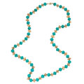 Estate Jewelry:Necklaces, Amazonite, Gold Necklace. . ...