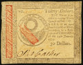 Continental Currency January 14, 1779 $30 Extremely Fine-About New