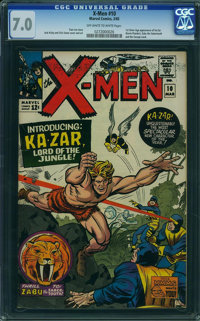 X-Men #10 (Marvel, 1965) CGC FN/VF 7.0 Off-white to white pages