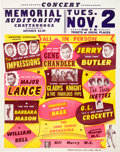 Music Memorabilia:Posters, Gladys Knight & The Fabulous Pips Memorial Auditorium Concert Poster (1965)....