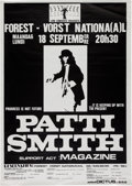 Music Memorabilia:Posters, Patti Smith Concert Poster (Lion Concerts Presents, circa 1978)....
