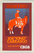 "Music Memorabilia:Posters, Joe ""King"" Carrasco/The Colors CBGB Concert Poster (1980)...."