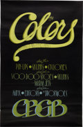 Music Memorabilia:Posters, CBGB The Colors Concert Poster (1980)....