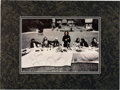 "Music Memorabilia:Memorabilia, Beatles - George Harrison Signed ""Last Supper"" Parody Photograph ina Matted Display (1973). ..."