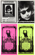 Music Memorabilia:Posters, Bob Dylan Isle Of Wight Festival Concert Posters (1970).... (Total:3 Items)