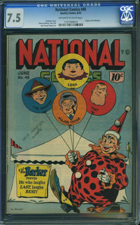 National Comics #48 (Quality, 1945) CGC VF- 7.5 Off-white to white pages