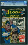 Silver Age (1956-1969):Superhero, Action Comics #374 (DC, 1969) CGC VF+ 8.5 White pages.