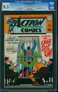 Action Comics #377 (DC, 1969) CGC VF+ 8.5 Cream to off-white pages