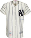 Baseball Collectibles:Uniforms, 1990's Joe DiMaggio Signed New York Yankees Jersey....
