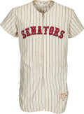 Baseball Collectibles:Uniforms, 1961 Harry Bright Game Worn Washington Senators Inaugural Season Jersey....