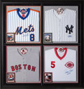 Baseball Collectibles:Others, 1990's Legendary Catchers Signed Jerseys Display from The GaryCarter Collection....