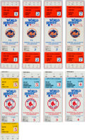 Baseball Collectibles:Tickets, 1986 World Series Tickets Lot of 8 from The Gary CarterCollection....