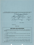 Football Collectibles:Others, 1974 Larry Brown Signed Washington Redskins Player's Contract & Player Assessment by Coach George Allen....